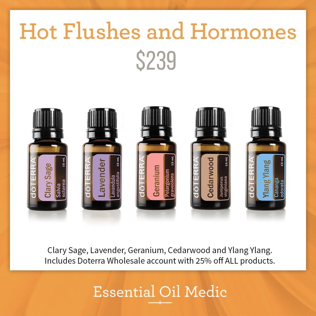 Nieuw Hot Flushes and Hormones kit - doTERRA Essential Oils - Essential BN-42